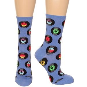 NEW Spin The Beat Record Socks in Periwinkle